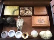 Schmuckschatullen Onyx Holz verschiedene Plastiken