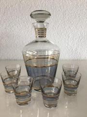 Schnapskaraffe mit 6 Gläschen