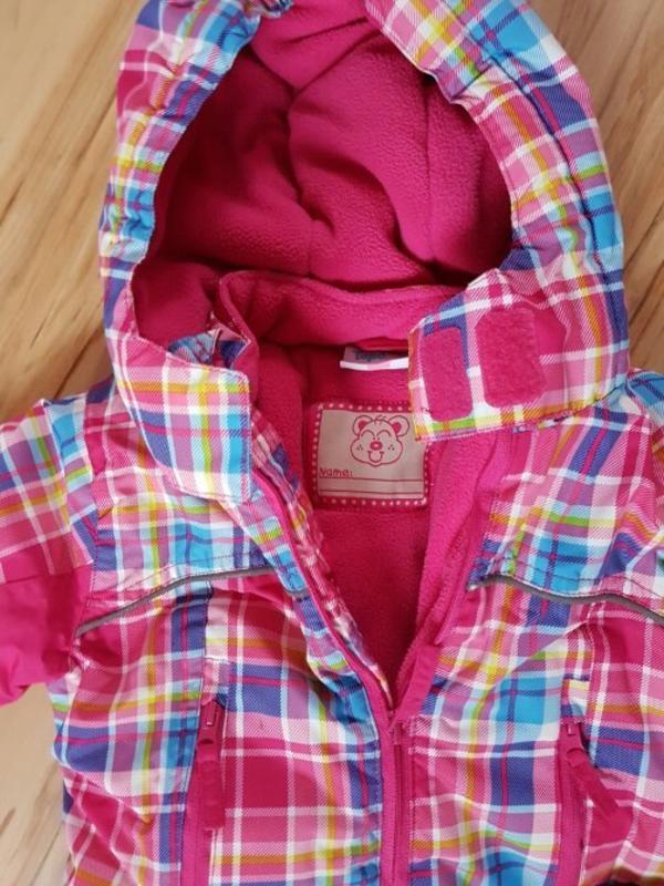Schneeanzug pink/bunt Größe. 74 von ernstings *neuwertig* - Laudenbach - verkaufe unseren gut erhaltenen Schneeanzug von ernstings Family.Der Anzug wurde nur 2x getragen und ist daher in einem sehr guten Zustand!Kann gern gegen Übernahme des Porto von 5,00 versendet werden - Laudenbach