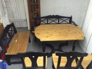 schöne esszimmergarnitur für 6-8 personen, massivholz, tisch, 2, Esszimmer dekoo