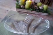 Schönes Geschenk Edle Glasschale Kuchenplatte