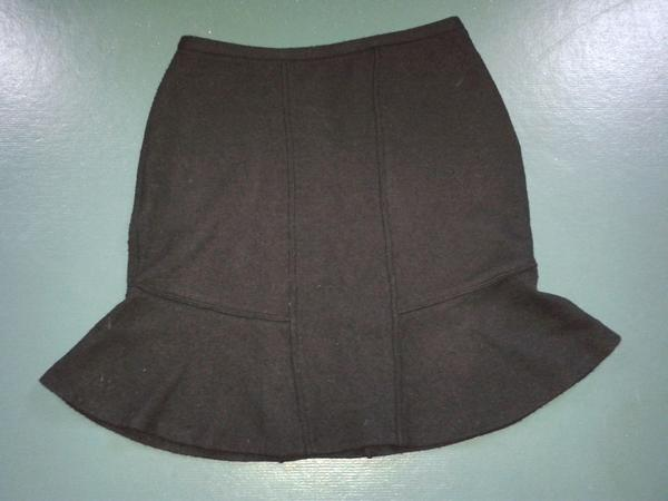 schwarzer Wollrock Gr 42