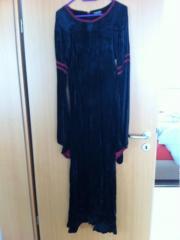 schwarzes samt Mittelalterkleid
