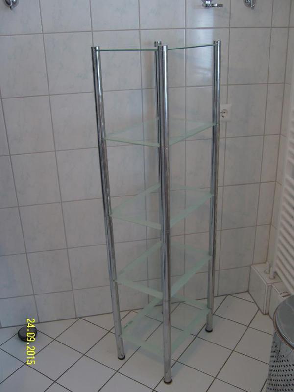 Badeinrichtung Berlin sehr schönes badezimmer standregal chrom glas mit 5 glasplatten