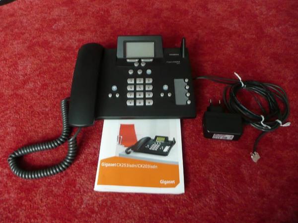 Siemens Gigaset CX253 isdn - Filderstadt - Siemens Gigaset CX253 ISDN mit Netzteil, 2 integrierten Anrufbeantwortern, Bedienungsanleitung. Versand 4 Euro. Da ich Privatverkäufer bin übernehme ich keinerlei Haftung. Umtausch bzw. Rückgabe sind ausgeschlossen. - Filderstadt