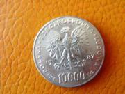 Silbermünze Medallie Polen
