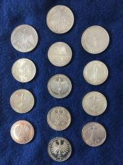 Silbermünzen 10 DM