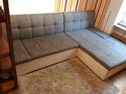 Sofa grau / weiß -