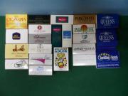 Streichhölzer - Zündhölzer - Schachteln - Reklame Hotel Werbung