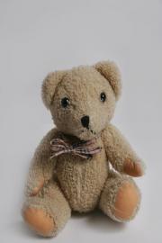Süßer kleiner weicher beiger Teddybär