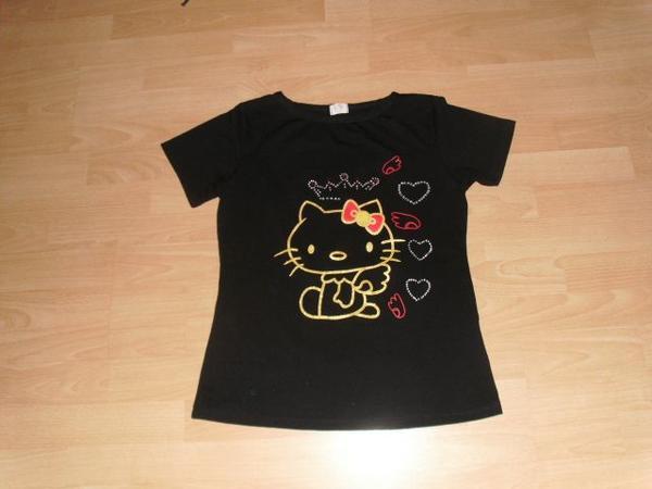 T-Shirt Hello Kitty schwarz mit