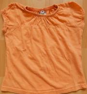 T-Shirt orange Gr 74 gerafftes