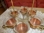 Teeservice Kupfer Vintage Grog Glühwein