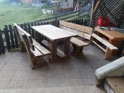 Gartenmöbel aus altem holz  Tisch / Bank (Altholz Fichte) in Stall - Gartenmöbel kaufen und ...
