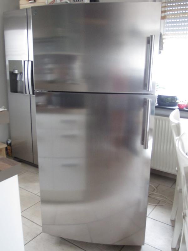 Top Zustand GE General Electric Edelstahl Amerikan Kühlschrank mit ...