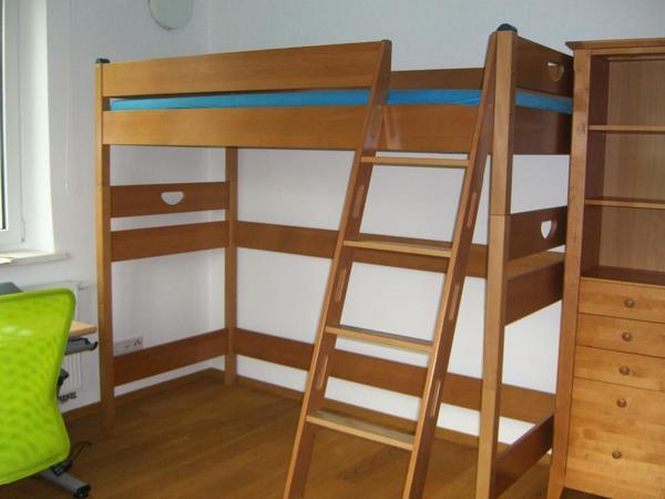 varietta paidi hochbett 155 spielbett 125 inkl umbausatz rutsche zubeh r in m nchen kinder. Black Bedroom Furniture Sets. Home Design Ideas