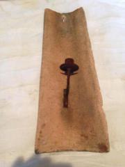Venzianische Dachziegel mit Kerzenständer Deko