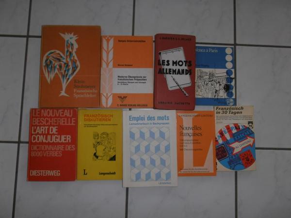 Verschiedene Bücher Französich Englisch Fachliteratur