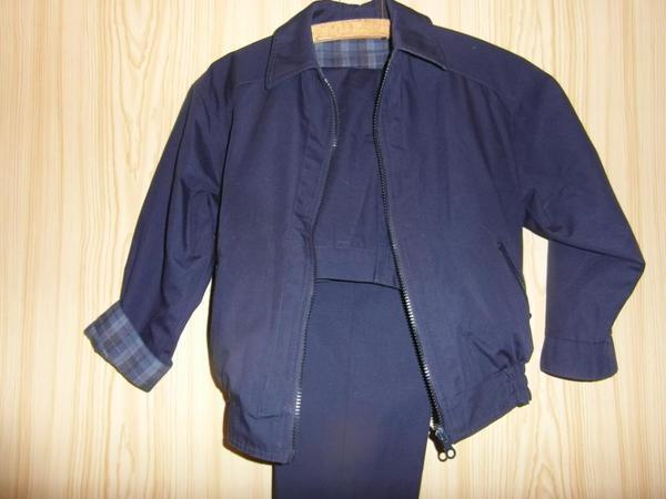 Wendeanzug Anzug dunkelblau und blaues