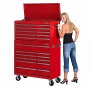 Werkstattwagen Set 21 Schubladen - Rot -