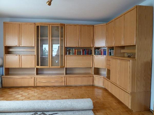 schrankwand wohnzimmer. Black Bedroom Furniture Sets. Home Design Ideas