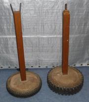 Zwei Pfosten Absperrpfosten Ständer Absperrständer